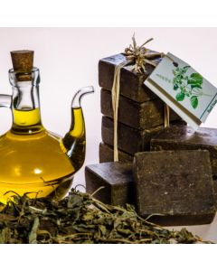 Olive Oil and Basilicum Leaves Soap