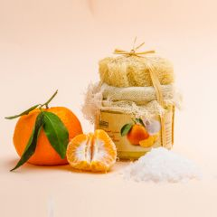 Salt & Mandarin with Essential oil of Mandarin scrub