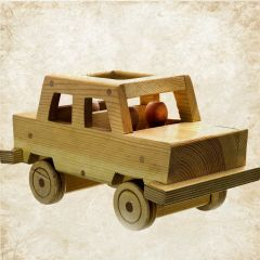 Wooden taxi toy