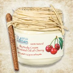 Silky body cream with essential oil of cherry