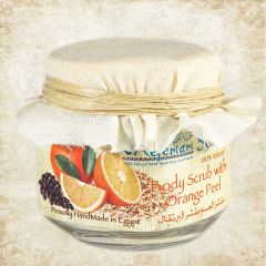 Orange Exfoliating Body Scrub 125 gm in a glass jar