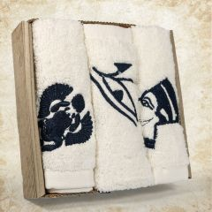 Small Pharaonic towel box contains 3 pharanoic towels