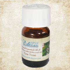 Tea Tree oil 25ml in a glass bottle.
