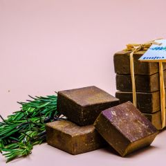 Olive Oil and Rosemary Herb Soap for oily hair and skin 4 pieces 225gm