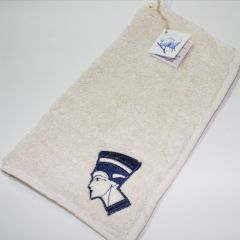 Pharaonic embroidered small hand towel (Scarabe, Horus eye, Nefertiti) 30*30cm