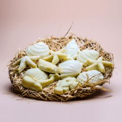 Red Sea collection of small soaps as sea shells in a basket