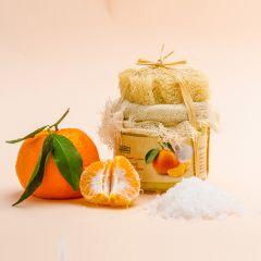 Salt & Mandarin with Essential oil of Mandarin scrub