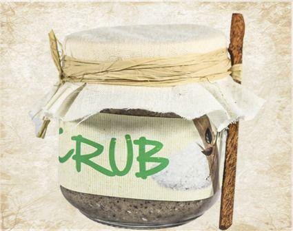 Salt Jojoba & Sandal wood scrub