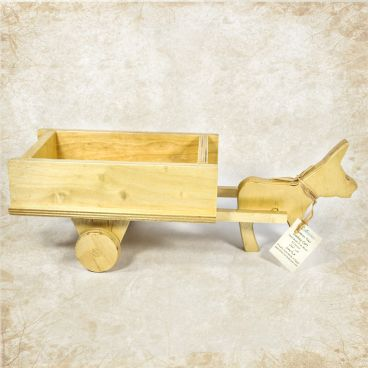 Wooden donkey cart toy (empty)