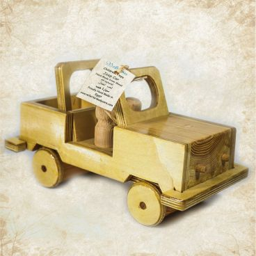 Wooden Jeep Toy