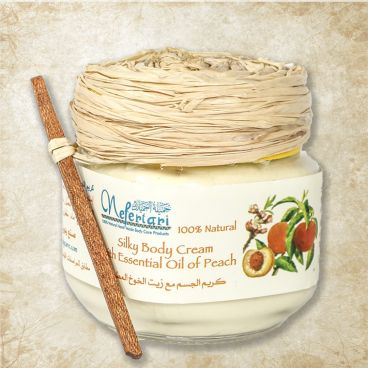 Silky body cream with essential oil of peach 175 gm