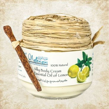 Silky body cream with essential oil of lemon 175 gm