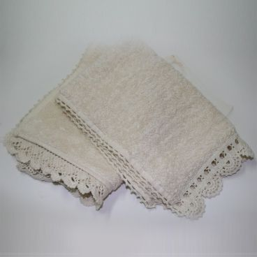 Hand Towel with crochet trims